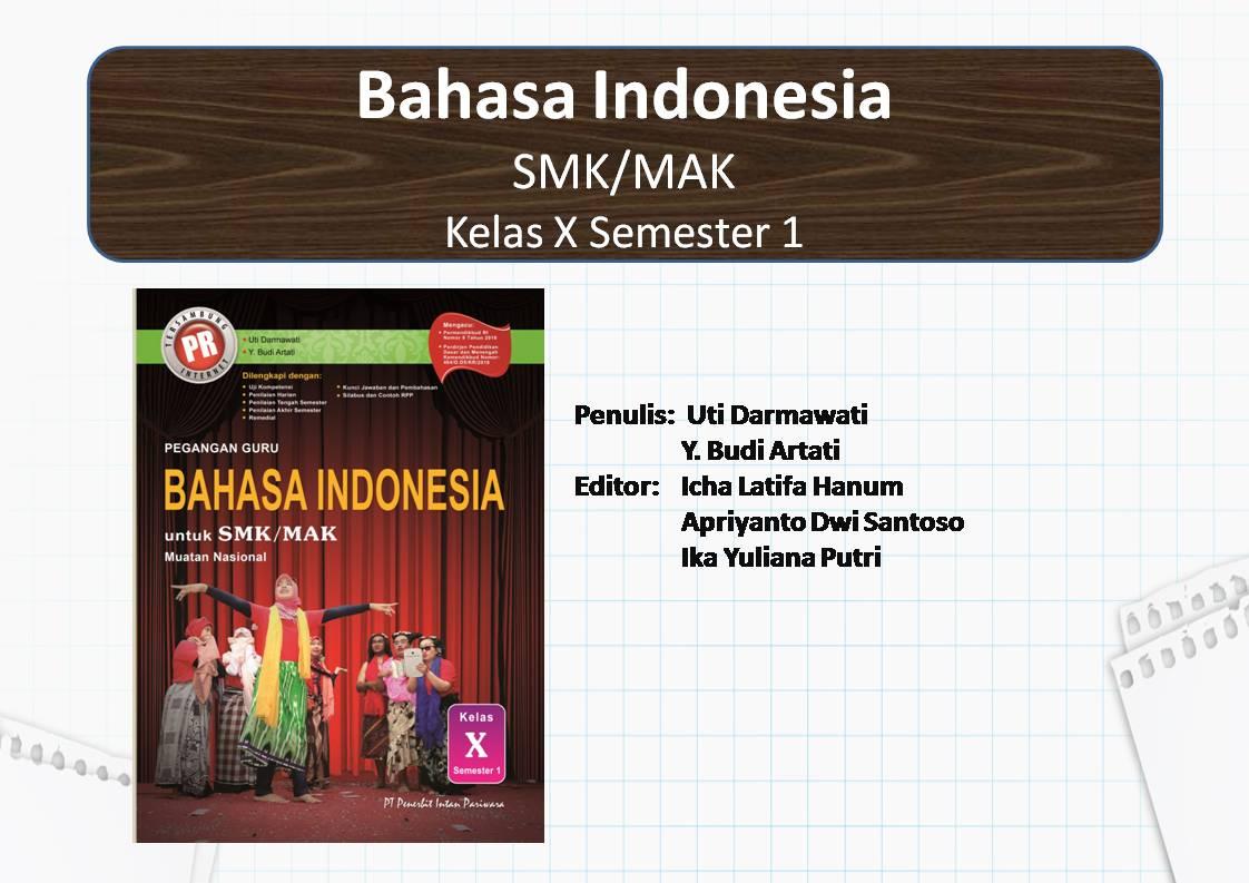 PowerPoint Bahasa Indonesia SMK Kelas X Semester 1