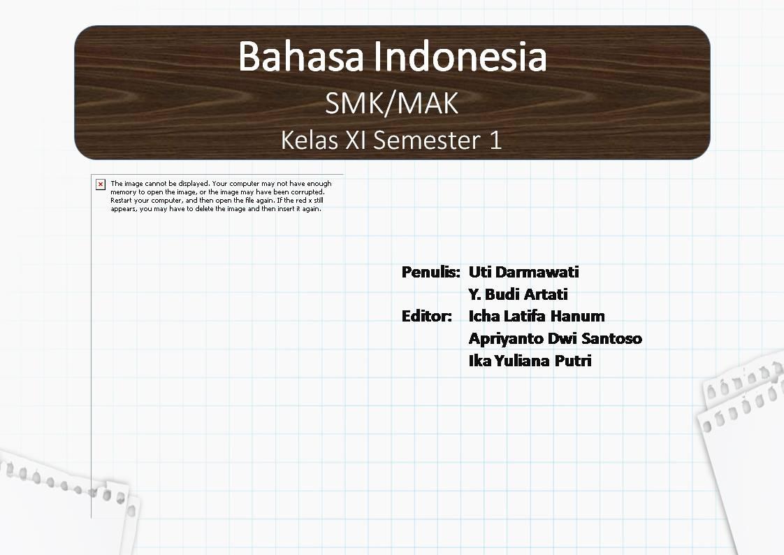 PowerPoint Bahasa Indonesia SMK Kelas XI Semester 1