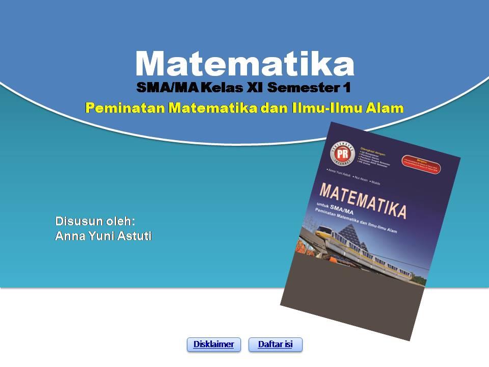 Powerpoint Matematika Peminatan Kelas Xi Semester 1 Peranti Guru