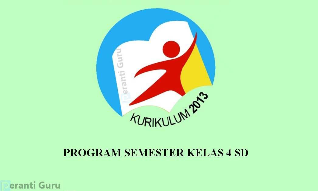 Program Semester Kelas 4 SD  Kurikulum 2013