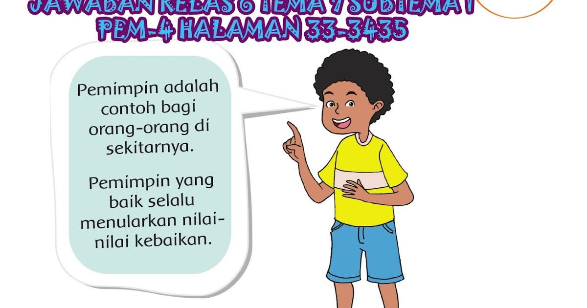 Kunci Jawaban Buku Paket Kelas 6 Tema 7 Subtema 1 Halaman 33, 34, 35